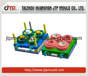 4 Cavities Plastic Round Food Container Mould