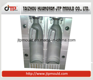 2 Cavities Plastic Blowing Bottle Mould with Handle