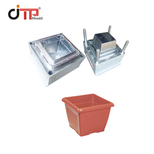 HDPE Material Customized Taizhou Big Square Plastic Injection Flower Pot Mould